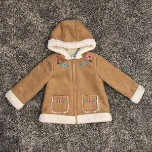 Warm Little Me suede toddler coat